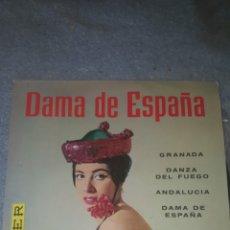 Discos de vinilo: ORQUESTA SINFONICA DEL AIRE - EMMA MALERAS Y SU CONJUNTO - DAMA DE ESPAÑA + 3. Lote 234589520