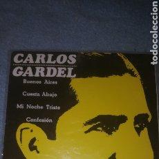 Discos de vinilo: - CARLOS GARDEL - BUENOS AIRES + 3 - EMI ODEON DSOE 16.024. Lote 234590820