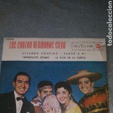 Discos de vinilo: LOS CUATRO HERMANOS SILVA. ESTANDO CONTIGO,SABOR A MI, CARNAVALITO GITANO, LA FLO. Lote 234591780