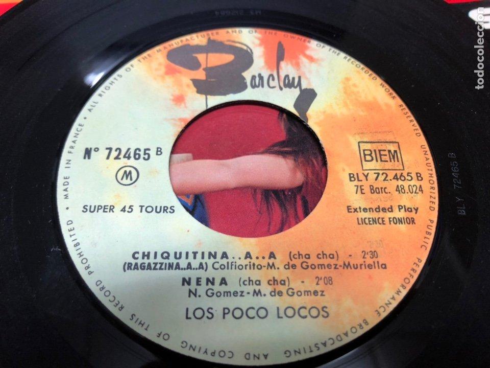 Discos de vinilo: EP LOS POCO LOCOS/ PISSI PISSI BAO BAO/SILVA JUANITA/CHIQUITINA/ NENA EDICION FRANCESA - Foto 3 - 234650030