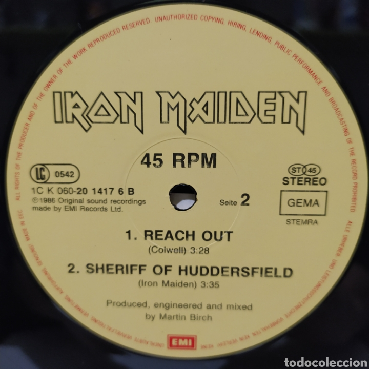 Discos de vinilo: Iron Maiden - Wasted Years 1986 Ed Holandesa - Foto 6 - 234674095