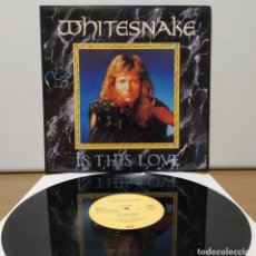 Discos de vinilo: WHITESNAKE - IS THIS LOVE 1987 ED ALEMANA. Lote 234675315