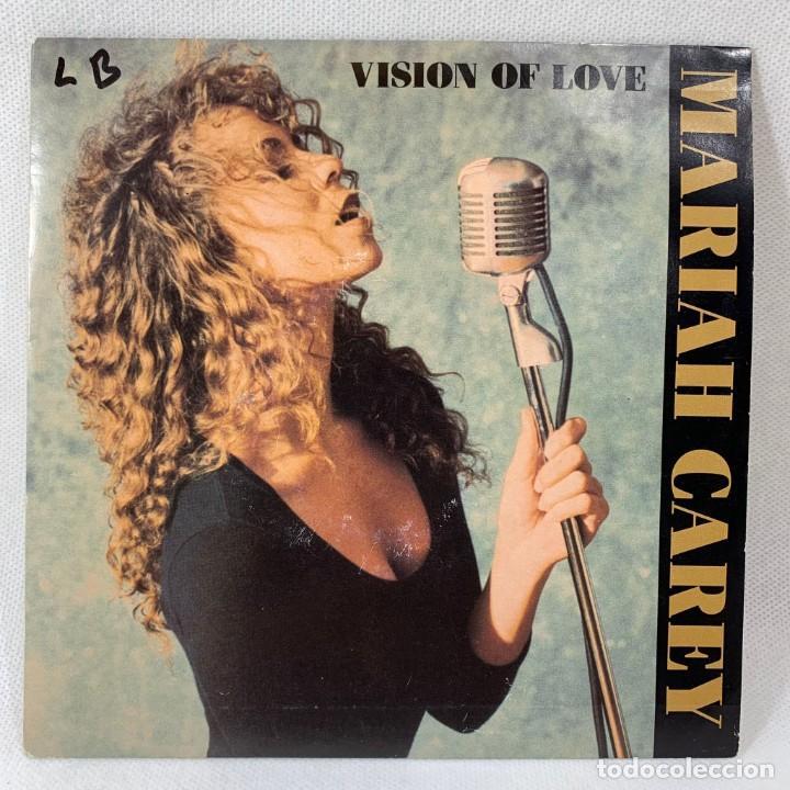 SINGLE PROMOCIONAL MARIAH CAREY - VISION OF LOVE - ESPAÑA - AÑO 1990 (Música - Discos - Singles Vinilo - Pop - Rock Internacional de los 90 a la actualidad)