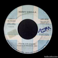 Discos de vinilo: HARRY DIBOULA - POU´W - SINGLE PROMOCIONAL 1989 - ASPA. Lote 234717200