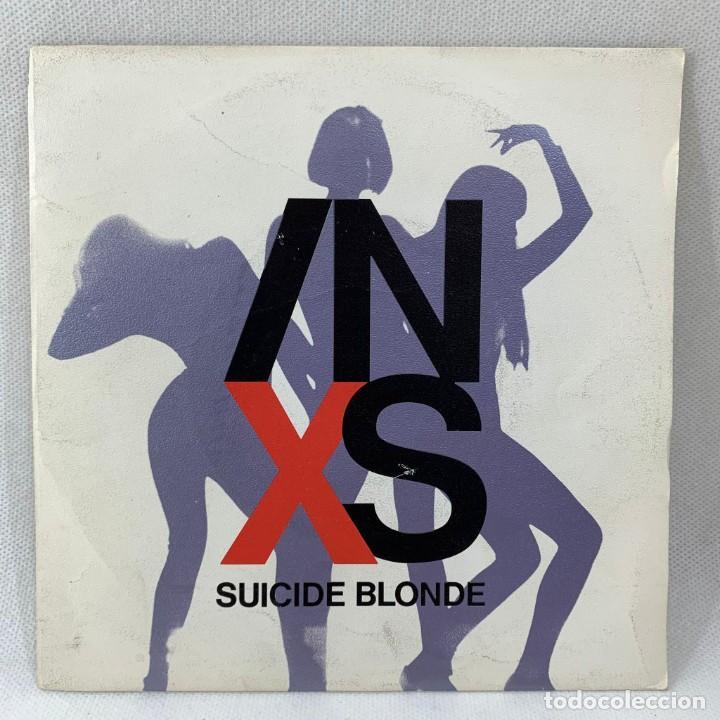 SINGLE INXS - SUICIDE BLONDE - ESPAÑA - AÑO 1990 (Música - Discos - Singles Vinilo - Pop - Rock Internacional de los 90 a la actualidad)