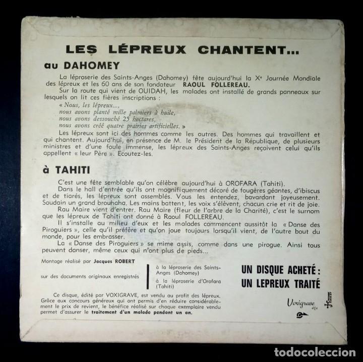 Discos de vinilo: les lepreux chantent Au Dahomey - À Tahiti - SINGLE FRANCES 33rpm - VOXIGRAVE - Foto 2 - 234734285