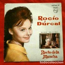 Discos de vinilo: ROCIO DURCAL (EP. 1963) QUE TENGAS SUERTE - NUBES DE COLORES CANTA CONMIGO. Lote 234738665