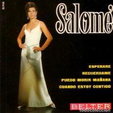 Discos de vinilo: SALOME-ESPERARE + RECUERDAME + PUEBLO MORIR MAÑANA + CUANDO ESTOY CONTIGO EP 1968. Lote 234742675
