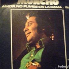 Discos de vinilo: MONCHO-POR ELE MOR DE UNA MUJER-SINGLE-FIRMADO. Lote 234744905