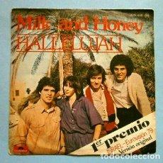 Discos de vinilo: MILK AND HONEY (SINGLE EUROVISION 1979) HALLELUJAH (HALELUYA) 1º PREMIO ISRAEL - SINGLE POLYDOR 1979. Lote 234748365