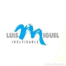 Discos de vinilo: LUIS MIGUEL - INOLVIDABLE + INOLVIDABLE - SINGLE PROMO SPAIN 1991. Lote 234752675