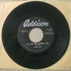 Discos de vinilo: JAMIE COE. SCHOOL DAY BLUES/ I'LL GO ON LOVING YOU. ADDISON, USA 1959 SINGLE. Lote 234772565