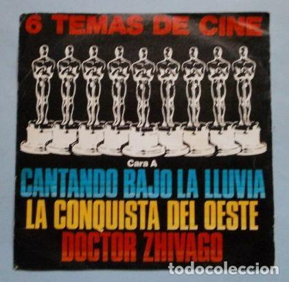 6 TEMAS DE CINE (EP BSO 1965) LA CONQUISTA DEL OESTE - 2001 ODISEA DEL ESPACIO - NACIDA LIBRE (Música - Discos de Vinilo - EPs - Otros estilos)