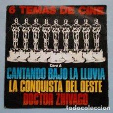 Discos de vinilo: 6 TEMAS DE CINE (EP BSO 1965) LA CONQUISTA DEL OESTE - 2001 ODISEA DEL ESPACIO - NACIDA LIBRE. Lote 234773350