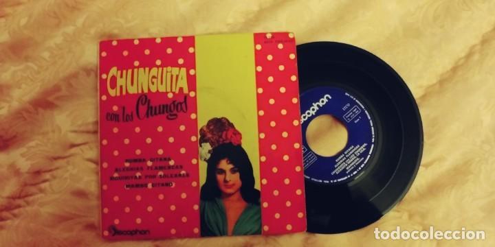 CHUNGUITA CON LOS CHUNGOS-EP RUMBA GITANA +3 (Música - Discos de Vinilo - EPs - Flamenco, Canción española y Cuplé)