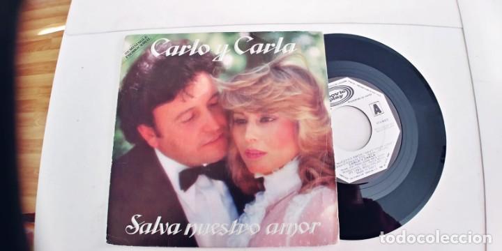 CARLO Y CARLA-SINGLE SALVA NUESTRO AMOR (Música - Discos - Singles Vinilo - Grupos Españoles de los 70 y 80)