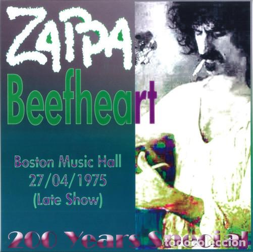 LP FRANK ZAPPA & BEEFHEART - BOSTON MUSIC HALL 27/04/75 (LATE SHOW) 200 YEARS SPECIAL - NUEVO !!!* (Música - Discos - LP Vinilo - Pop - Rock - Extranjero de los 70)