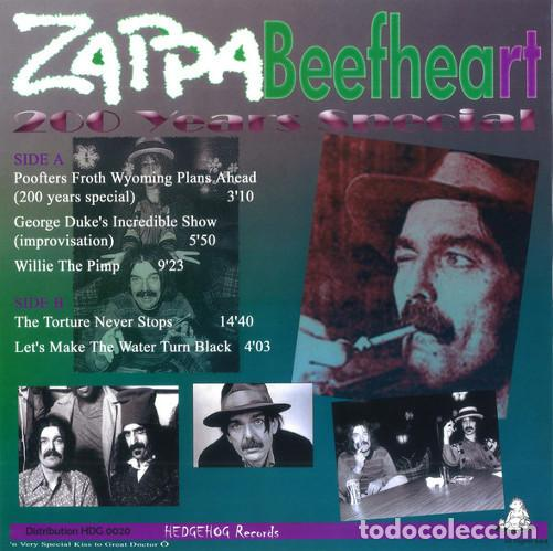 Discos de vinilo: LP FRANK ZAPPA & Beefheart - Boston Music Hall 27/04/75 (Late Show) 200 Years Special - NUEVO !!!* - Foto 2 - 234784960