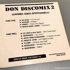 Discos de vinilo: NUMULITE * LP DON DISCOMIX 2 JUANMA GINO SPTEPHANELLI REMIX FOR RADIO T9. Lote 234795675