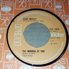 Discos de vinilo: SINGLE - ELVIS PRESLEY - THE WONDER YOU / MAMA LIKED THE ROSES - ELVIS. Lote 234810005