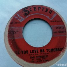 Disques de vinyle: THE SHIRELLES ‎– WILL YOU LOVE ME TOMORROW/BOYS SINGLE USA 1960 G+. Lote 234848610