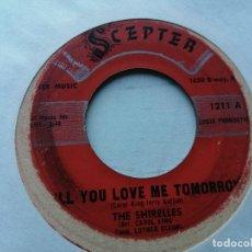 Disques de vinyle: THE SHIRELLES – WILL YOU LOVE ME TOMORROW/BOYS SINGLE USA 1960 G+. Lote 234848610