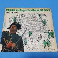 Discos de vinilo: DISCO DE VINILO - JUAN PALACIOS - TANGUILLO DEL GOLPE / SEVILLANAS DEL SUSTO - 1981. Lote 234854680