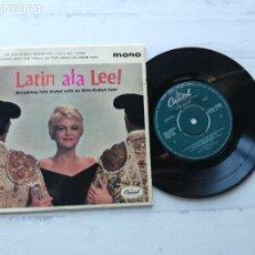 Discos de vinilo: PEGGY LEE, JACK MARSHALL'S MUSIC – LATIN ALA LEE! EP UK 1960 LATIN JAZZ VG++/VG++. Lote 234866255