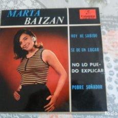 Discos de vinil: MARTA BAIZAN - HOY HE SABIDO + 3 EP. Lote 234870340