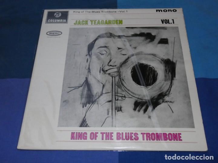 BOXH67D LP JAZZ EUROPEO AÑOS 70-80 GRAN ESTADO JACK TEAGARDEN KING OF THE BLUES TROMBONE VOL.1 (Música - Discos - LP Vinilo - Jazz, Jazz-Rock, Blues y R&B)