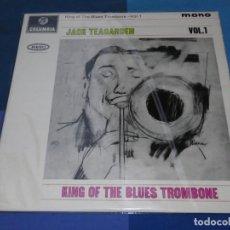 Discos de vinilo: BOXH67D LP JAZZ EUROPEO AÑOS 70-80 GRAN ESTADO JACK TEAGARDEN KING OF THE BLUES TROMBONE VOL.1. Lote 234888350