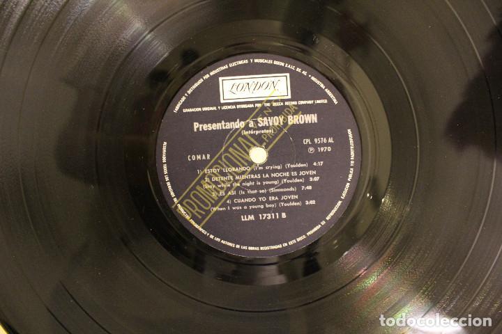 Discos de vinilo: DISCO LP -. SAVOY BROWN - PRESENTANDO A - PROMOCIONAL - VINILO ARGENTINO - EXC - Foto 3 - 234901565