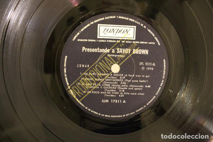 Discos de vinilo: DISCO LP -. SAVOY BROWN - PRESENTANDO A - PROMOCIONAL - VINILO ARGENTINO - EXC - Foto 4 - 234901565