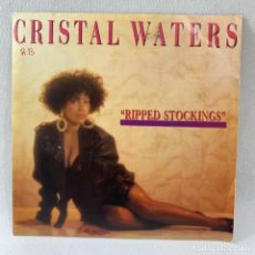 Discos de vinilo: SINGLE CRISTAL WATERS - RIPPED STOCKINGS - ESPAÑA - AÑO 1990. Lote 234901660