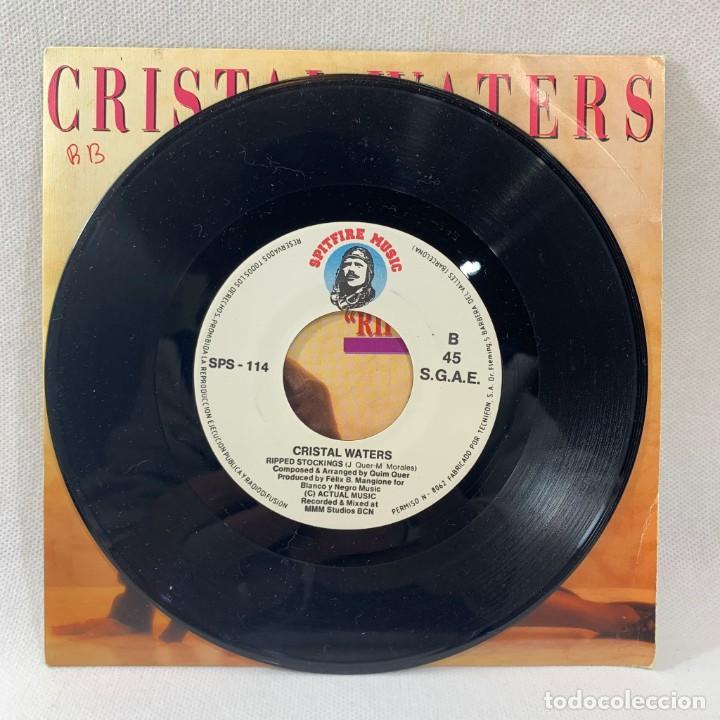 Discos de vinilo: SINGLE CRISTAL WATERS - RIPPED STOCKINGS - ESPAÑA - AÑO 1990 - Foto 2 - 234901660