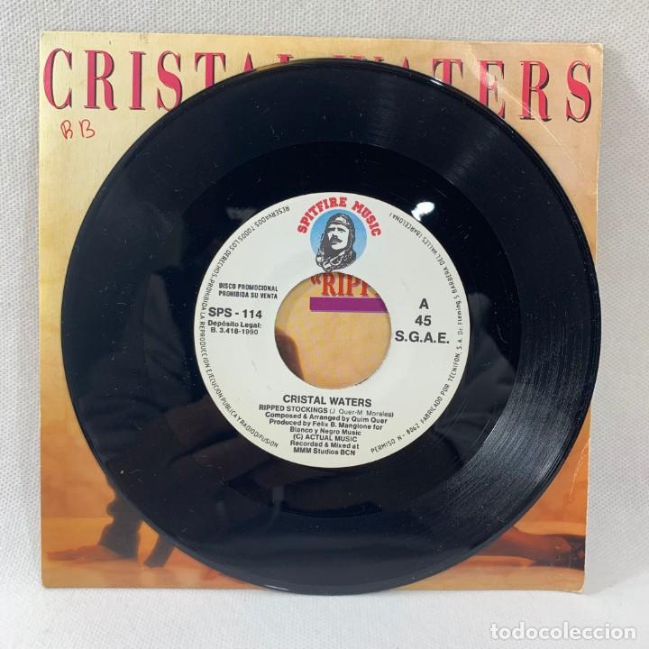 Discos de vinilo: SINGLE CRISTAL WATERS - RIPPED STOCKINGS - ESPAÑA - AÑO 1990 - Foto 3 - 234901660