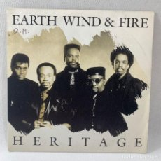Discos de vinilo: SINGLE EARTH , WIND & FIRE - HERITAGE - ESPAÑA - AÑO 1990. Lote 234901940