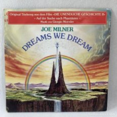 Discos de vinilo: SINGLE JOE MILNER - DREAMS WE DREAM - ALEMANIA - AÑO 1990. Lote 234902395