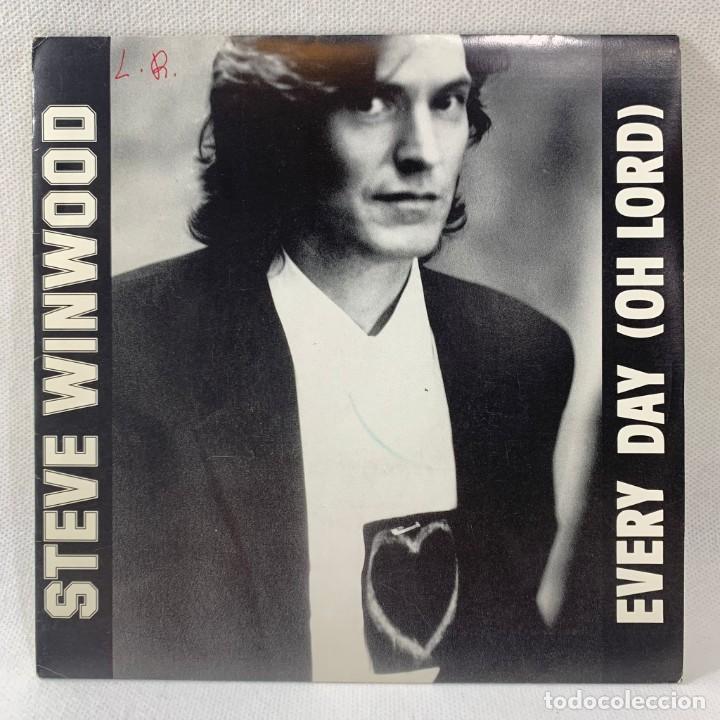 SINGLE STEVE WINWOOD - EVERY DAY (OH LORD) - ESPAÑA - AÑO 1991 (Música - Discos - Singles Vinilo - Pop - Rock Extranjero de los 90 a la actualidad)