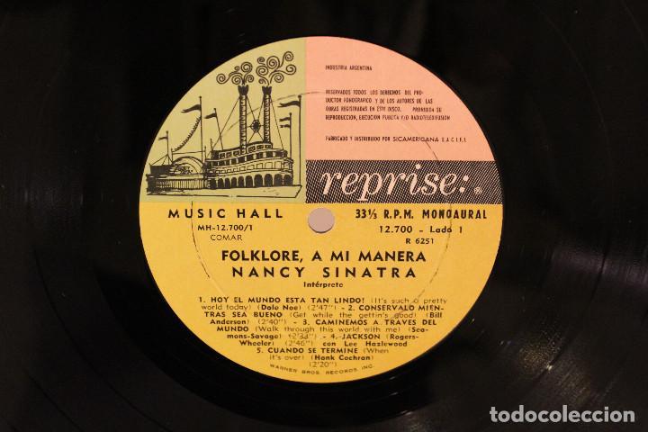 Discos de vinilo: DISCO LP - NANCY SINATRA - FOLKLORE A MI MANERA - 1968 - VINILO ARGENTINO - EXC - Foto 3 - 234906875