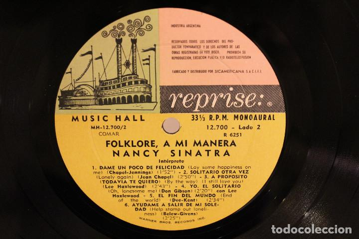 Discos de vinilo: DISCO LP - NANCY SINATRA - FOLKLORE A MI MANERA - 1968 - VINILO ARGENTINO - EXC - Foto 4 - 234906875