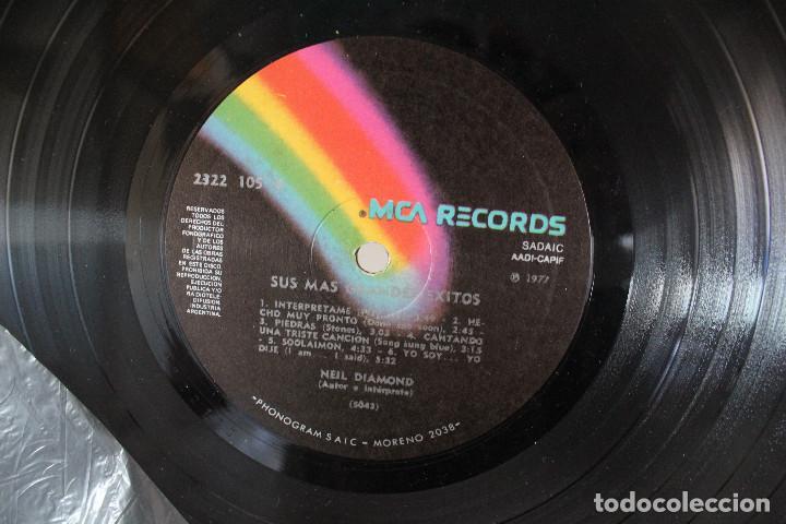 Discos de vinilo: DISCO LP - NEIL DIAMOND - SUS MAS GRANDES EXITOS - 1977 - VINILO ARGENTINO - EXC - Foto 3 - 234907730