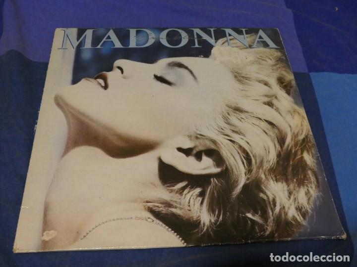 EXPRO LP MADONNA TRUE BLUE USO OBVIO TODO LEVE AUN ACEPTABLE (Música - Discos - LP Vinilo - Jazz, Jazz-Rock, Blues y R&B)