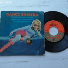 Discos de vinilo: NANCY SINATRA – ESTAS BOTAS SON PARA CAMINAR + 3 EP ESPAÑOL 1965 VG/VG. Lote 234922095