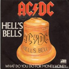 Discos de vinilo: AC / DC - HELL`S BELLS - SINGLE. Lote 234923515