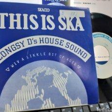 Discos de vinilo: LONGSY D'S HOUSE SOUND SINGLE THIS IS DÍA ESPAÑA 1989. Lote 234924465