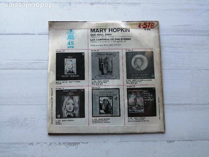 Discos de vinilo: Mary Hopkin – Que Sera, Sera / Las Campiñas De San Etienne Single SPAIN 1970 VG++/VG++ - Foto 2 - 234930915