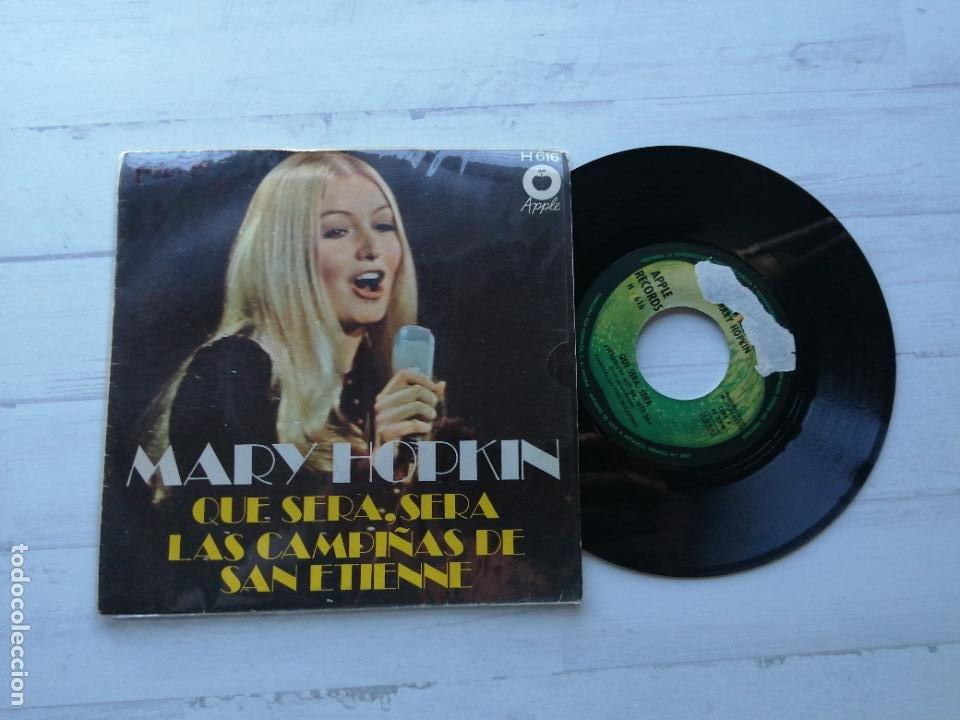 MARY HOPKIN – QUE SERA, SERA / LAS CAMPIÑAS DE SAN ETIENNE SINGLE SPAIN 1970 VG++/VG++ (Música - Discos - Singles Vinilo - Pop - Rock - Extranjero de los 70)