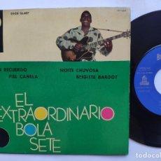 Discos de vinilo: BOLA SETE - EP SPAIN PS - MINT * BRIGITTE BARDOT / UN RECUERDO / PIEL CANELA / NOITE CHUVOSA. Lote 234939440