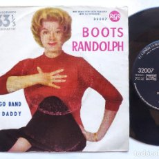Discos de vinilo: BOOTS RANDOLPH - 45 SPAIN PS - EX * BONGO BAND / BIG DADDY. Lote 234940310